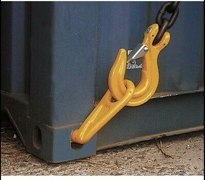 Container Lifting Hook, Left Hand 12.5 Ton rated High Strength Forged Steel