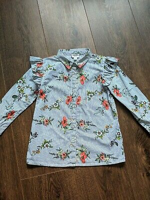 River Island Blouse Shirt Top Stripe Floral 2 3 years 24 36 months Frill