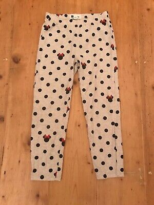 GAP Girls Minnie Mouse Beige/Grey Spotted Leggings, Age 10-11 Years. Worn Once.