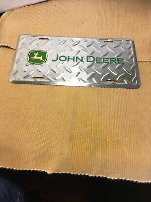 John Deere Diamond Plate License Plate Brand New