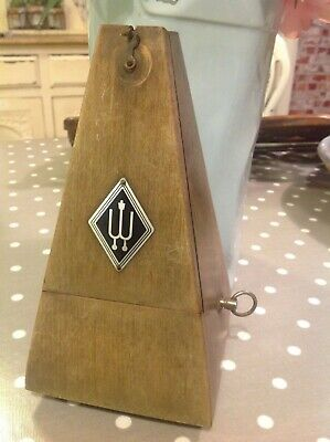 Wittner German  Metronome Timing Musical Instrument  Vintage solid mahogany