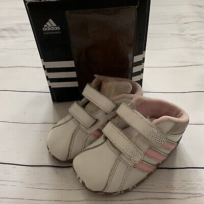 Baby Girls Infant Size 3 - Trainers - ADIDAS Liladi Crib Shoes Pink White