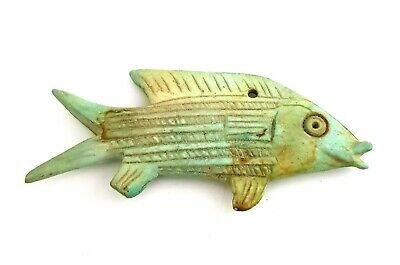 Rare Amulet Fish Ancient Egyptian Egypt 18th Dynasty Ca Rare Kingdom Antique art