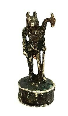 Rare Anubis Egyptian God Dead Statue Ancient bronze Ornament Figurine Mummy art