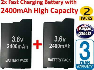 2x New Rechargeable Battery Pack for Sony PSP2000 & 3000 3.6V 2400mAh