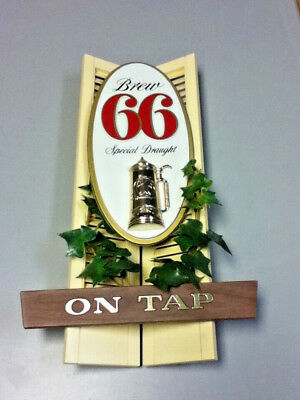 Sick's century beer sign wall tacker 3-D Brew 66 special draught vintage bar old