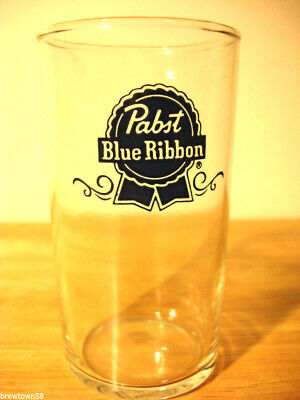 New NOS Pabst beer glass Blue Ribbon bar Milwaukee Wisconsin Brewery 8 OUNCE 1