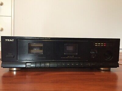Teac Stereo Double Cassette Deck W-410 Tape Lo Fi Dolby Hi Speed Vintage