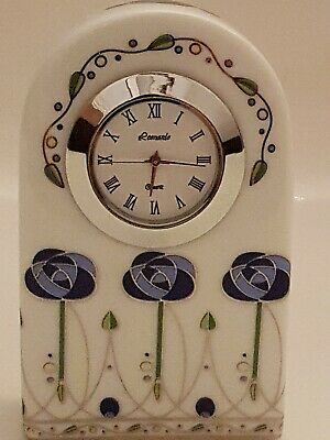 Leonardo Collection Mackintosh Style Ceramic Small Mantle Clock