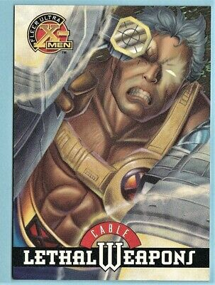 1995 Fleer Ultra X-Men Lethal Weapons Chase Card # 3  of 9 Cable.  Andy Kubert.