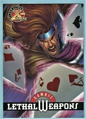 1995 Fleer Ultra X-Men Lethal Weapons Chase Card # 5 of 9 Gambit. Andy  Kubert.