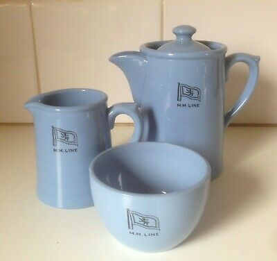 Vintage Maritime Collectable McIlwraith McEaharn Line Ship Tea Set Vitrified