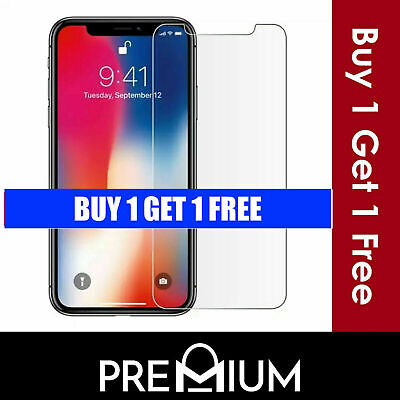 Genuine Tempered Glass Screen Protector for iPhone 11 Pro Max XR X Max 5 6 7+ 8+