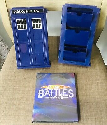 DR Doctor Who BATTLES IN TIME MONSTER INVASION CARDS TARDIS TRADING CARD STORAGE