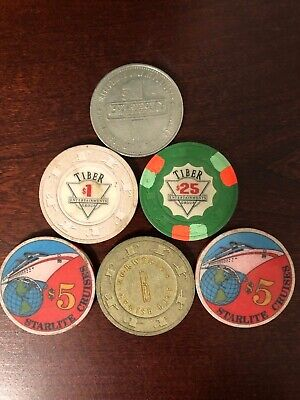 Lot of old Casino Chips