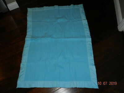"Vintage Blue 100% Acrylic Thermal Baby crib Blanket with Satin Trim 37"" x 51"""