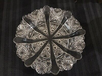 Antique Victorian pressed glass dish