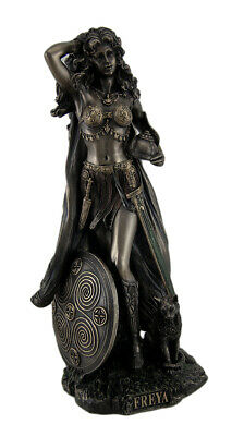 Norse Goddess Freya Antique Bronze Finish Statue