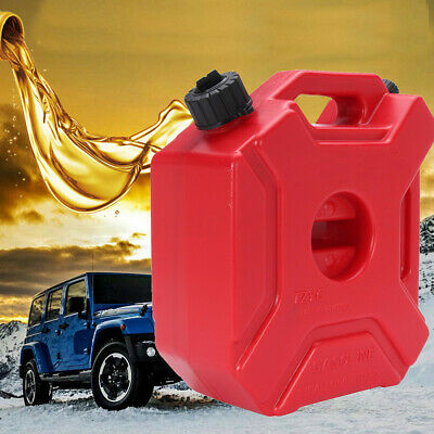 5L Red Jerry Can Fuel Military With Holder Spare Petrol Container Heavy Duty
