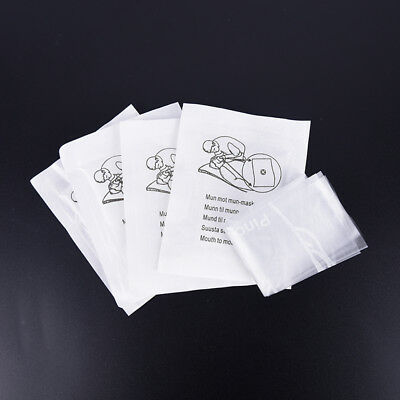 5pcs first aid cpr face shield cpr masks one way valve sterilized pack H ZY KM