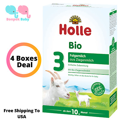 Holle Goat Milk Stage 3 Organic Formula 4 Boxes Germany 400g Free Shipping