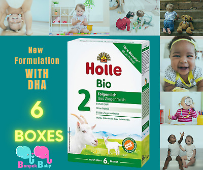 4 Boxes Holle Goat Milk Stage 2 Organic Formula Germany 400g Free Shipping