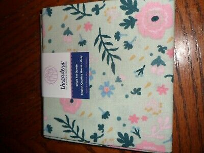 single fat quarter fabric by threaders country garden design