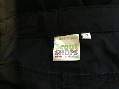 scout official activity trousers aged 13