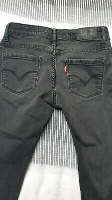 Levis 711 Skinny Grey Black Jeans With Stretch Aged 12 Unisex