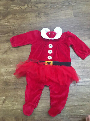 NEXT Girls Christmas Outfit One Piece Bodysuit 0-3 Months