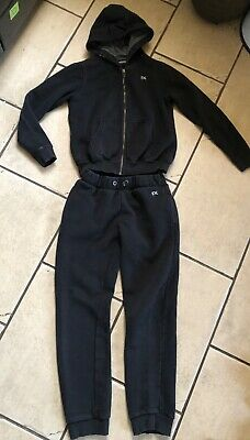 Girls/Boys Next Black 2 Piece Tracksuit Set - Age 11-12 Years