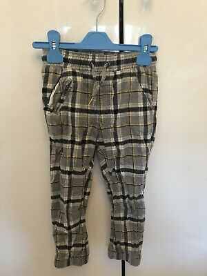 Next Cuffed Leg Lined Tartan Trousers Age 3-4