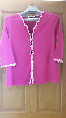 """Blooming Marvellous 3/4 sleeve """"hot pink"""" cotton maternity cardigan. VGC Size M"""