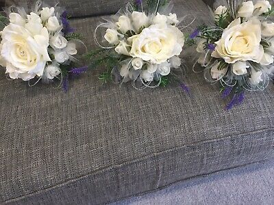 3 Stunning Artificial Bridesmaids Bouquet Or Flowers 4 Vase or table centrepiece
