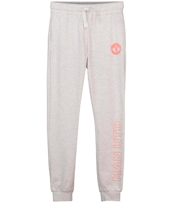 Manchester United Cuffed Jog Pants Grey - Girls BNWT Age 10-11 Years