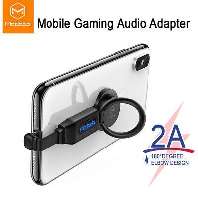 Mcdodo 5 In 1 for Lightning Audio Adapter Ring Holder Charger Adapter Fast Charg