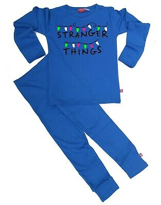 Ethical Kids Childrens Boys Girls Stranger Things Pyjamas Pajamas (Blue)
