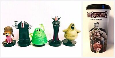 Cup topper figures Hotel Transylvania  Full Set  + Collectible movie cup