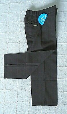 Vintage Boys Tailored Trousers - Age 5-6 Years approx - Brown Zip Front - New