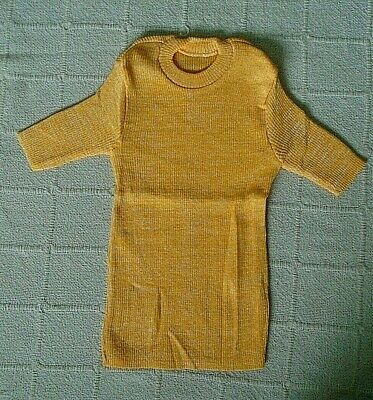 Vintage Girls Skinny Rib Short sleeve Top  - Age 10 Years - Yellow Fleck - New