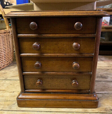 Victorian Miniature Apprentice Mahogany Chest Of Drawers