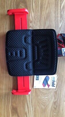 mifold The Grab and Go Booster Child Restraint Seat Handbag Sized Black And Red