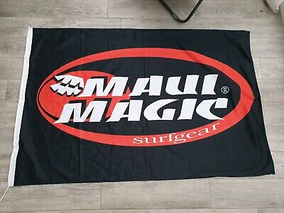 Official Maui Magic Beach Flag Retail Advertising Surfing Surf Shop Sign