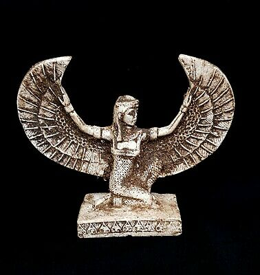Circa 2686–2181 Winged Isis Statue Egyptian Antique Sculpture Rare Stone Bust