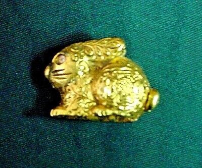 Vintage Max Factor Bunny Solid-Perfume Compact-Excellent Condition