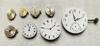 Vintage Pocket Watch Movements & Others X8 Most Balances Swing Freely Sprs/Rprs;