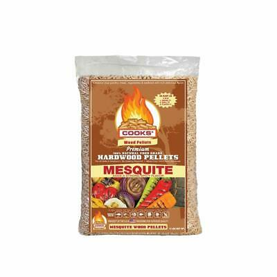 Cooks BBQ Products Mesquite Hardwood BBQ Pellets for Pellet Grills Smokers Ch...
