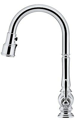 Kohler K-99259-VS Artifacts Single-Hole Kitchen Sink Faucet with 17-5/8-Inch Pul