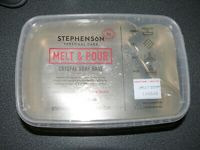 Stephenson Melt & Pour Crystal Soap Base JELLY SOAP 2 lbs