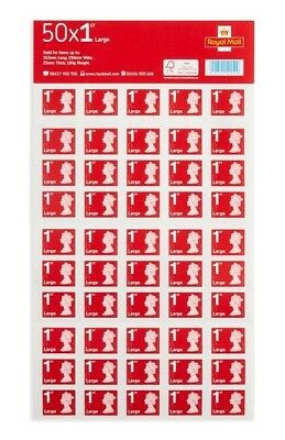 50 x 2 (100) 1st class Royal mail large letter stamps